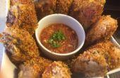 Al muslo de pollo con salsa picante de caseros