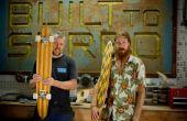 Construcción de patinetas de madera acuático