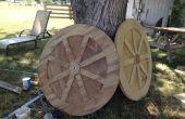 Construyendo las ruedas tipo carro para uso en pollo tractores y carros de jardín