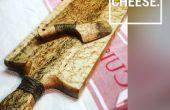 Fabricado a mano, tabla de quesos y cuchillo de queso