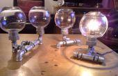 Steampunk - lámparas de tubo, industrial