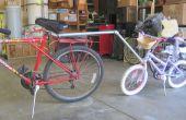 Intento fallido de una barra de remolque para bicicleta de niño