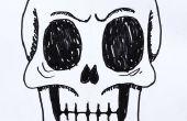 Cómo dibujar un cráneo humano