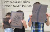 Papel construcción DIY Solar impresiones