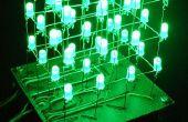 El 4 x 4 x 4 cubo del LED (Arduino)