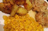 Pollo muslos con salsa de crema + lados