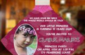 DIY princesa vestido invitaciones para el cumpleaños de tu princesa Lil