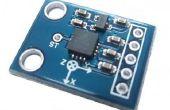 Acelerómetro ADXL 335 con Mediatek LinkIt uno tablero de interconexión