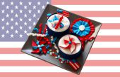 4 de julio día de la independencia Cupcake Toppers