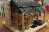 Cabaña de troncos Birdhouse - a escala!