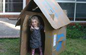 Gratis para niños de cartón caja de Playhouse (packable plano)