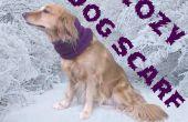Acogedora bufanda hecha punto de perro