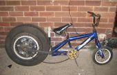 Empujar la bici con rueda de coche (mira dragster)