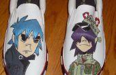 Tamaño de zapatos pintada de Gorillaz los hombres 11 de mano