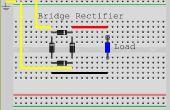 Hacer un puente rectificador de diodos