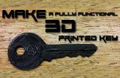 Cómo hacer un 3D impreso clave (TUTORIAL completo)