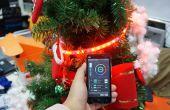 Elegante teléfono controlado árbol de Navidad con tira de LED RGB