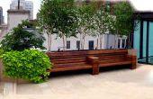 Diseño de cubierta de techo de Nueva York: Park Avenue piedra caliza Patio