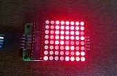Increible calendario binario y el reloj como fase de la luna en una matriz de LED