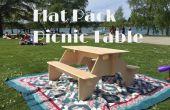 Mesa de Picnic de la plana-Pack de 1 hoja de madera contrachapada