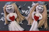 Ángel de nieve muñeco de cuerdas