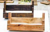 ESTANTES de madera bricolaje rústico plataforma