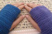 Mitones sin dedos de crochet