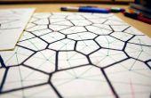 Dibujado a mano diagramas de Voronoi