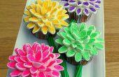 Cómo hacer Cupcakes de flor de malvavisco