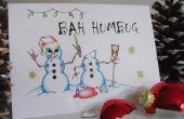 """""""Bah patraña"""" tortuosos tarjetas de Navidad muñecos de nieve - Navidad con actitud!"""