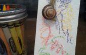 Arte caracol: Hacer arte con caracoles