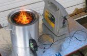 Gasificador de madera portátil grande estufa
