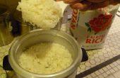 Cómo hacer arroz meloso perfecto usando una olla de arroz