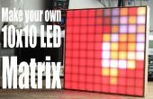 Hacer tu propia matriz de LED de 10 x 10