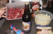Pastel de carne y ale de estilo pub (para ocupados y mucha hambre) en ingles