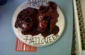 Pastel de corazón de Halloween