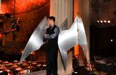 Controlado por Arduino, alas de disfraz de Arcángel de aluminio