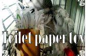 Rollos de papel higiénico reciclado en juguete de loro super fácil