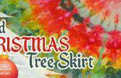 Hielo teñido falda de árbol de Navidad