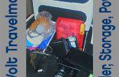 12 voltios Travelmate - un refrigerador que proporciona almacenamiento de información y energía