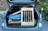 Cajón de coche de madera para perros