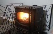 Fireguard Art Deco para la hornilla del registro