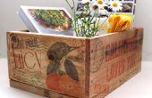 Transferencia de cajas palet y la imagen del chorro de tinta a la madera
