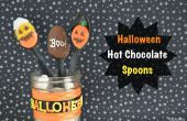 Cucharas de Chocolate caliente de Halloween
