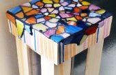 Mesa de teléfono de mosaico pequeño
