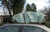 Atar cargas a coche cubiertas por hacer temporal anclajes