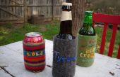 Fieltro reciclado bebida Coozie