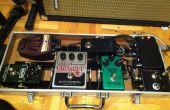 Guitarra efectos pedal y caja con fuente de alimentación aislada