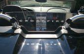 Sand Blast patrones en plexiglás - Deflector de viento para el coche Convertible