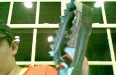 Un sarated rasgado cuchillo, arma que hice